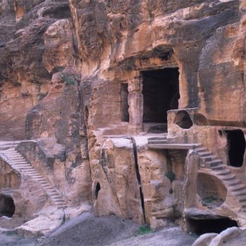 Ancient Nabataen staircase