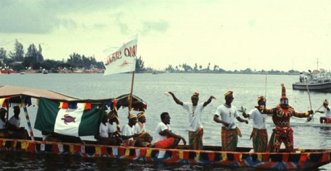Festival of Negro-African Art and Culture, folklore, boat